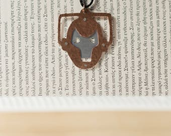 Cyberman Doctor Who Copper and Aluminum Handmade Whovian Pendant