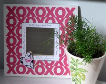 Gifts for Hèr Gifts for Girls White Square Mirror Hearts Love Punk and White Girls Room Decor Christian Home Decore