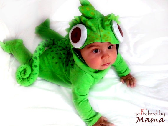 rapunzels chameleon pascal inspired baby costume - Raiponce Pascal