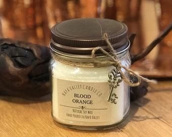 Blood Orange - Handmade Natural Soy Wax Mason Jar Candle