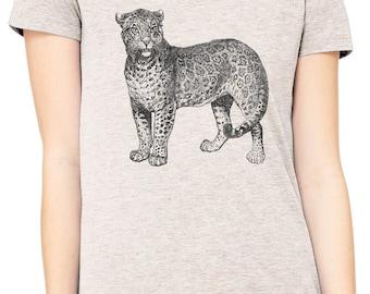 Austin Ink Apparel Slim Fit Spotted Wild Jaguar Soft Triblend Short-Sleeve T-Shirt