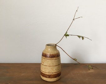 striped 1970s bud vase