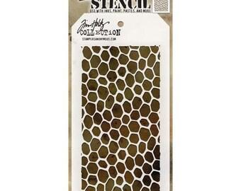 Tim Holtz Layering Stencil-HIVE THS105