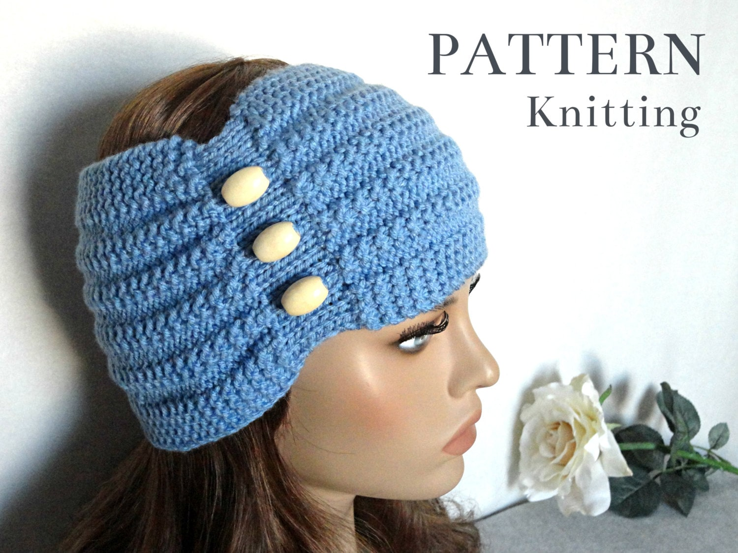 Knitting PATTERN Headband Womens Ear Warmer Adult Headband Knit ...