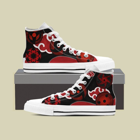 Sneaker Naruto Sasuke Naruto Converse Shoes Converse Top Shippuden Manga High Anime Shoes Naruto Anime Custom Custom Naruto Shoes rOzIwOqZn