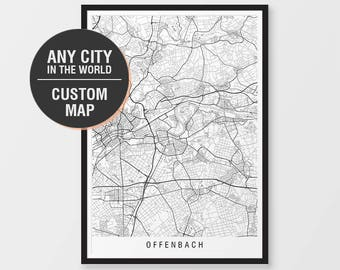 Custom map print etsy custom map print any city in the world city print minimalist black white personalised maps poster art prints gumiabroncs Images
