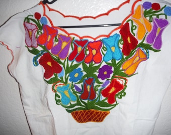 Embroided mexican blouse, hippie style
