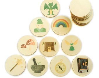fantasy forest - memory match | my little set | wooden game | story stones | memory match |
