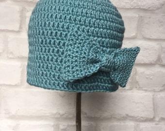 Baby Hat 9-12 months, Luxury, Cashmere, Merino, Silk, Baby gift, Baby Shower, Girl gift.