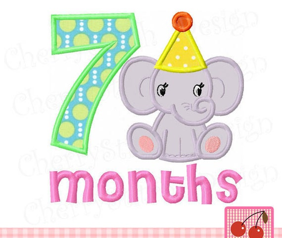 Baby elephant with 7 months for girls7 MonthsBaby