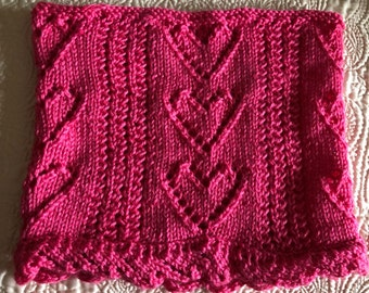 Be My Valentine Heart Cowl