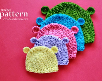 Crochet Pattern - Crochet Hats For Baby's First 3 Years (Pattern No. 070) - INSTANT DIGITAL DOWNLOAD