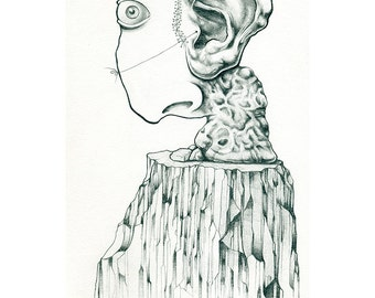 "Here Am I - Limited Edition Signed and Numbered 11""x14"" Print from Original Pencil Drawing"