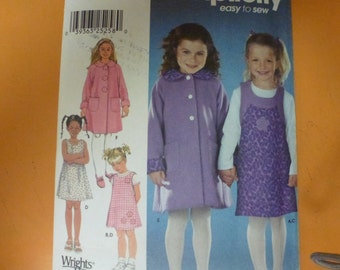 Simplicity Pattern 9928 Child's Coat,Jumper and Knit Top  Sizes 3-4-5-6