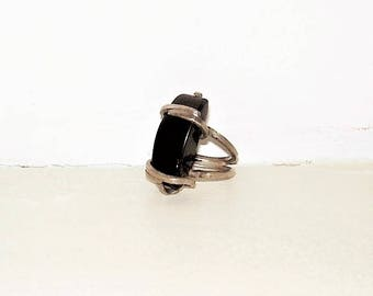 Silver Black Unique Ring 5