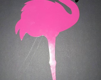 Flamingo -metal yard art