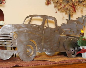 Christmas Truck, uncoated steel