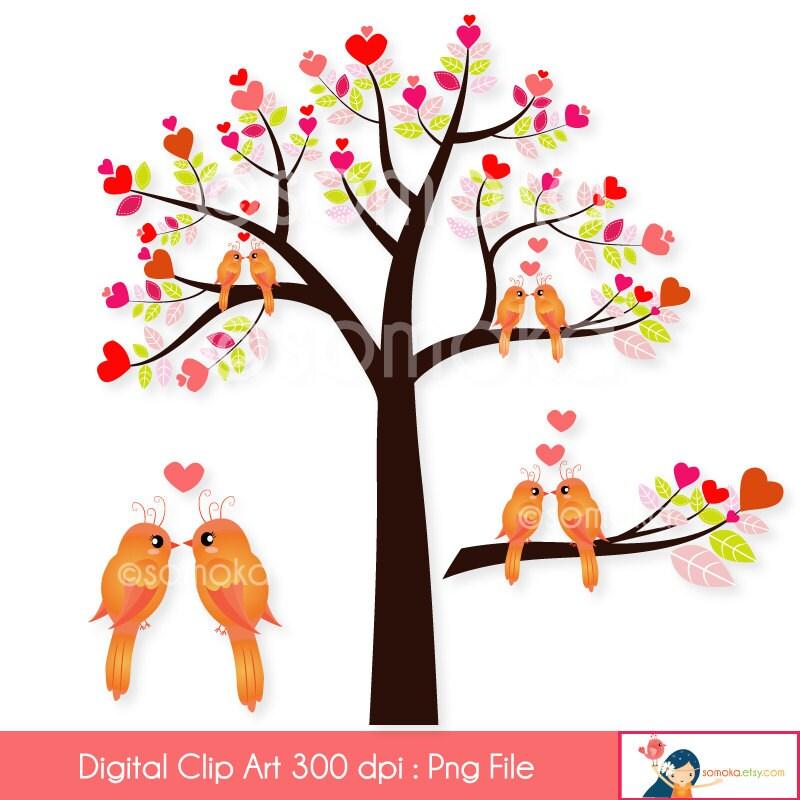 cute love bird digital clip art clipart set ideal for rh etsy com cute love clipart cute love birds clipart