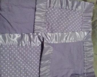 Purple Polka Dot Half & Half