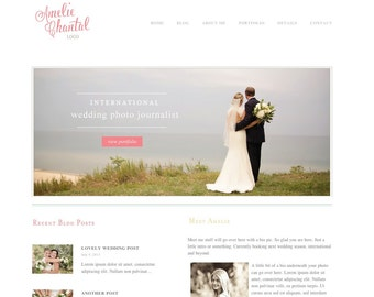 Responsive Wordpress Template - Blog Design - Wordpress Photography website - wordpress photography blog with slideshow