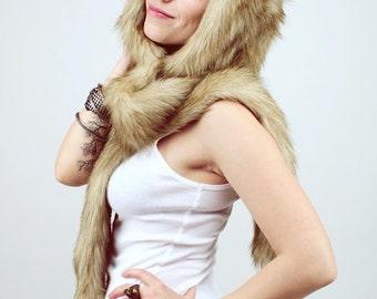 "Hat ""Сoyote"" mod. A, faux fur."