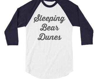 Sleeping Bear Dunes Baseball Tee | Lakes | Michigan | Great Lakes | Adventure | Camping | Summer