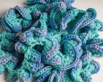 Beachy Accessory, Scarf, Gift for Her,  Winter Scarf,  Crochet Scarf, Crocheted Scarf, Woman Scarf, Crochet Neckwarmer, Blue Scarf