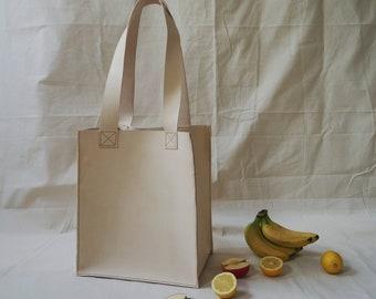 Big Natural Veg Tan Tote Bag
