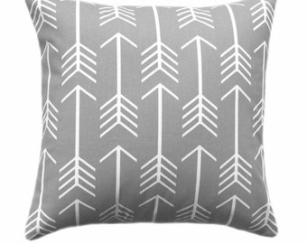 Gray White Pillow Cover, Decorative Throw Pillows, Cushions, Storm Grey White Arrow Pillow Covers, Throw Pillow, Couch Bed Sofa ALL SIZES