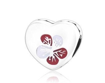 Plum Blossom Heart Charm