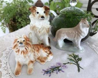 Vintage Ceramics - Dog Lovers - Collies Are Beautiful - Christmas Gift - Gift Packaged - Card - Free Shipping