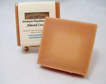 Almond Coconut Premium Artisan Handmade Soap - Free Shipping