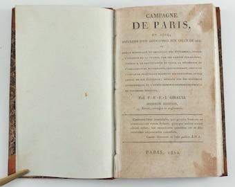 1814 France Campagne de Paris en 1814 Antique French Book