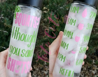 Squats I Thought You Said Shots Water Tracker Bottle, Motivational Water Bottle, Bartender Water Bottle, Bartender Gift, Fitness Bottle