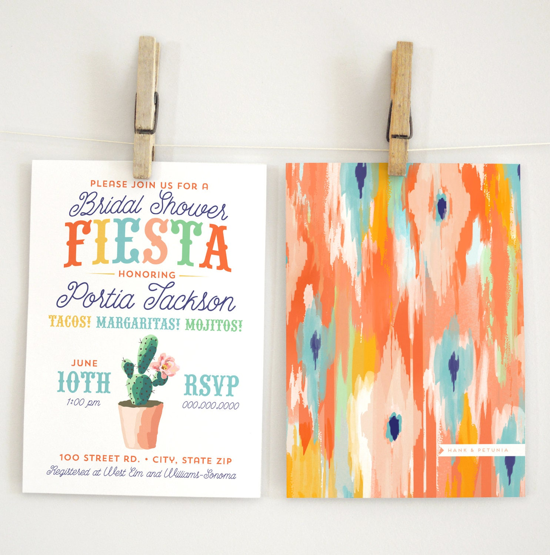 Fiesta Bridal Shower Invitation Southwest Bridal Shower Invite