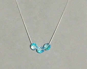 Turquoise Royal Czech Glass Bead Necklace