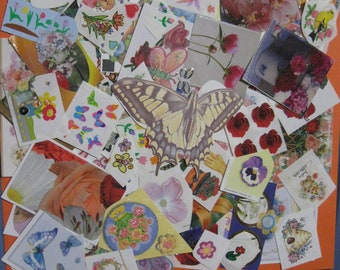 Lot of floral & butterfly stickers 90 pieces!