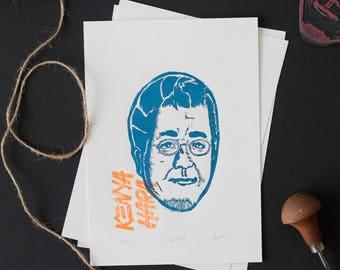 Kenya Hara, The Noble Designers - Linocut Printmaking Edition Print