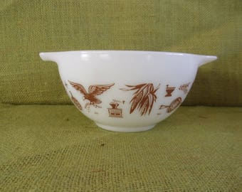 Vintage Antique Pyrex Early American #441 Cinderella Nesting Bowl 1 1/2 Pint - Mid Century Pyrex~Glass Mixing Bowl~Vintage Pyrex Collection