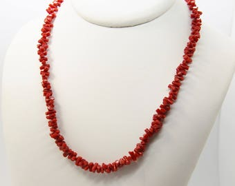 Necklace with Mediterranean Red coral from Corsica 1st choice CC 48