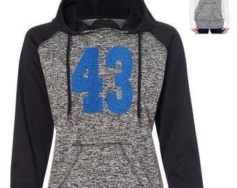 Baseball Mom Sweatshirt Pullover hoodie . womens custom jersey number sweatshirt. Ladies baseball Sweater jersey number with thumb holes .