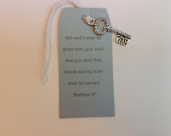 Gift Tag, Key Tag, Bookmark, Wedding Favor, Bible Verse, Bible Study, Teacher Gift, Friend Gift,