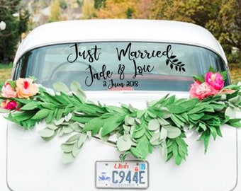 Wedding car stikers