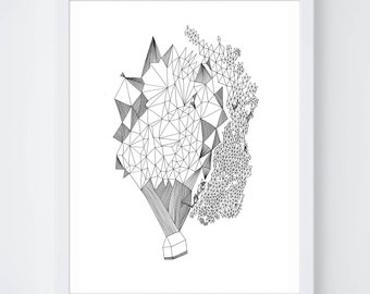 Sunshine Fine Art Archival Print of Original Pen and Ink Drawing