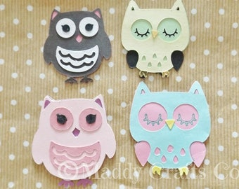 Owls Card Making Scrapbook Embellishments Woodland Paper Craft Supplies