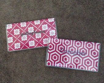 Personalized Checkbook cover w/different Pattern/Color options FREE SHIPPING