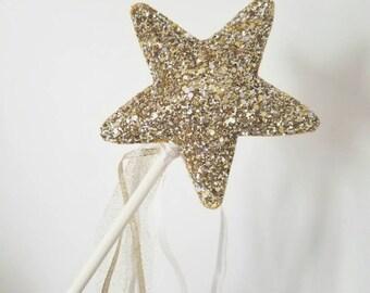 """The """"Golden"""" Glitter Fairy wand"""