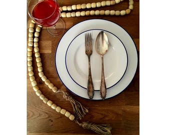 Set of 4 Forks and 4 Spoons, Mismatched.