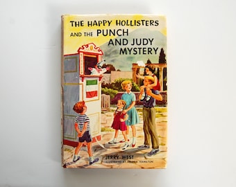 The Happy Hollisters Book, Punch and Judy Mystery, No. 27, Vintage Kids Mystery Books, Jerry West, Childrens Literature