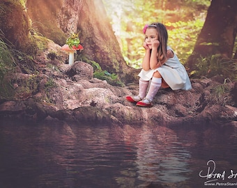 Fairy Tale Inspired Digital Background -Frog Prince -Water -Path -Digital Backdrop -Photographer -Child -Boy -Mini Session -Instant Download